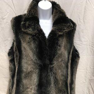 Beautiful Gray Faux Fur Kristen Blake Vest
